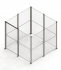 Medium mesh partition stand alone cage enclosure. Full height 50 x 50mm mesh with double door access - SDC-MEDDD