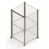 Mini mesh partition stand alone cage enclosure. Full height 50 x 50mm mesh with single door access - SDC-MINSD