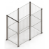 Small mesh partition stand alone cage enclosure. Full height 50 x 50mm mesh with single door access - SDC-SSD