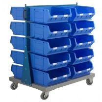 Double Sided Louvre Panel Spacemaster PLUS bins