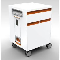 Fetch Mobile Caddy Filing Cabinet with Two Drawers