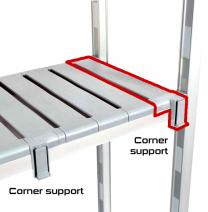 Corner Support Kit for Plastic Shelving Bays