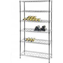 Chrome wine rack shelf