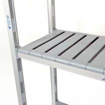 Plastic Shelving Extension Bay with Four Levels - Various Sizes Available
