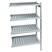 Plastic Shelving Extension Bay with Four Levels