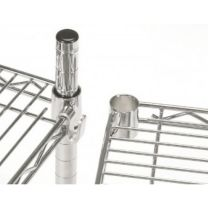 Chrome Wire Shelving 2130mm Height with 4 Shelves - Various Sizes Available