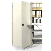 Fineline Adjustable Delta Edge Shelving with 5 Levels with Back - H1850mm x W1000mm x D350mm
