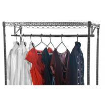 Chrome garment rail