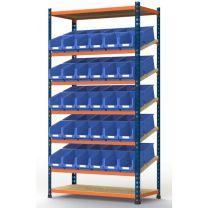 Kanban storage shelving system