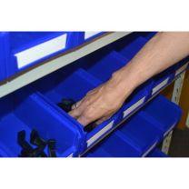 Kanban Steel Storage System with 60 Plastic Storage Bins