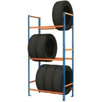 Light duty steel tyre racking