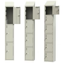 Steel Lockers - Smoke White - Choice of Sizes - Bespoke Colours Available