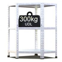 Rax 2 Corner Medium Duty Galvanised Shelving - various sizes
