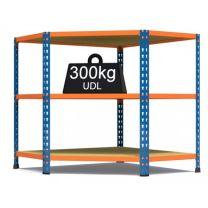 Rax 2 Corner Medium Duty Shelving - Blue and Orange - various sizes