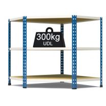 Rax 2 Corner Medium Duty Shelving - Blue and White - various sizes