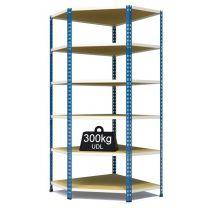 Rax 2 Corner Medium Duty Shelving - Blue and White