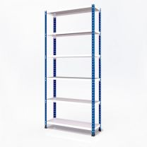 Medium Duty Steel Shelving Rax 2 - Blue and White with Melamine Shelves - various sizes