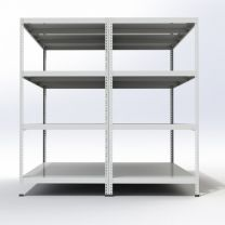 Rax 1 Galvanised Mortuary Racking with 4 Levels