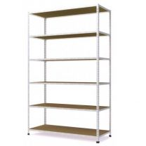 Galvanised Medium Duty Steel Shelving with Chipboard Shelves