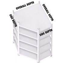 Rax Value Corner Shelving - Smoke White + Free Mallet