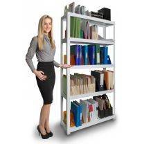 Rax Office Steel Shelving White with Steel Shelves + Free Mallet