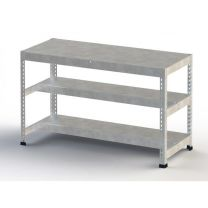 Galvanised Heavy Duty Workbench With Three Levels - Various Sizes Available