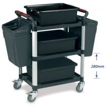 Standard Transport Trolley - 3 shelves with Utility Trays